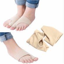 1 Pair Elastic Big Toe Bunion Pad Hallux Valgus Protector Corrector Sleeves