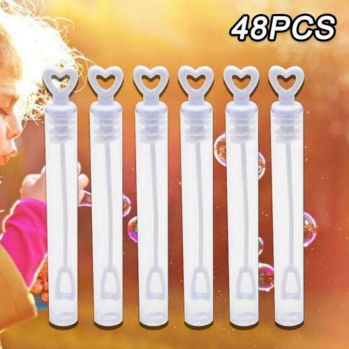 UK 48 Wedding Wand Heart Bubble Tube Favour Table Decoration Party Accessory New