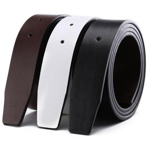 White Designers Luxury Brand Belts for Mens High Quality Automatic Male Strap Genuine Leather Waistband Ceinture Homme,No Buckle