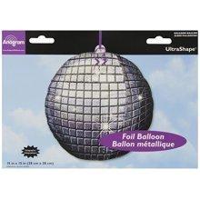 Disco Ball Holographic UltraShape Foil Balloons 15/38cm w x 15/38cm h - P35