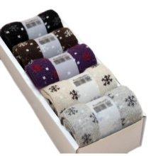 5 Pairs Women Soft Socks Fall Winter Warm Socks Decent Gift-A01