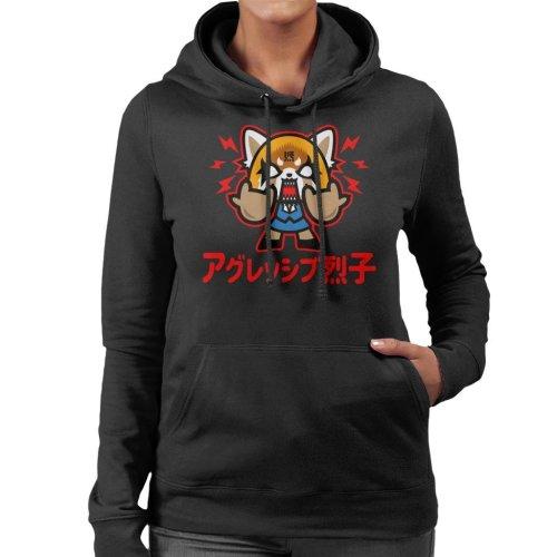 Aggretsuko Chibi Women's Hooded Sweatshirt