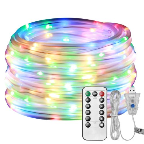 LE Dimmable LED Rope Lights USB Powered 10m 100 LEDs Waterproof IP65 8 Lighting Modes Flexible Strip Lights for Outdoor Garden Patio Party...