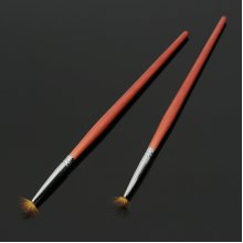 1Pc Fan-shaped Acrylic Nail Art Pen Brush Sable Hair Carving Drawing Painting