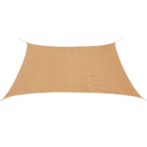 vidaXL Sunshade Sail HDPE Square 2x2 m Beige