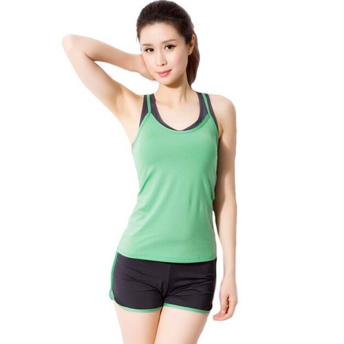 Green Sexy Yoga Apparel Sexy Yoga Pant Gym Clothes Dance Outfit Fitness Suit