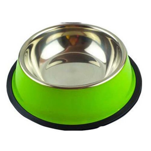 Little Stainless Steel Bowl Set Feeding Pot/Pet Bowl/Dog Bowl/Cat Bowl For Food & Water M Size (Green)