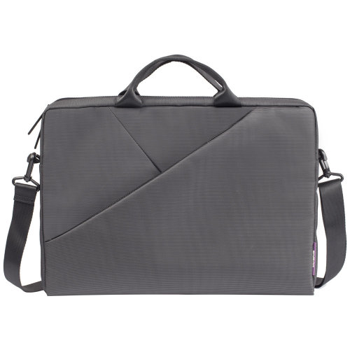 RIVACASE 8730 Polyester Bag with Adjustable Strap for 15.6 Inch Laptops, Grey (6901820087308)