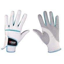 Professional High Quality Women Golf Gloves Golf Gift, White&Blue(#19)