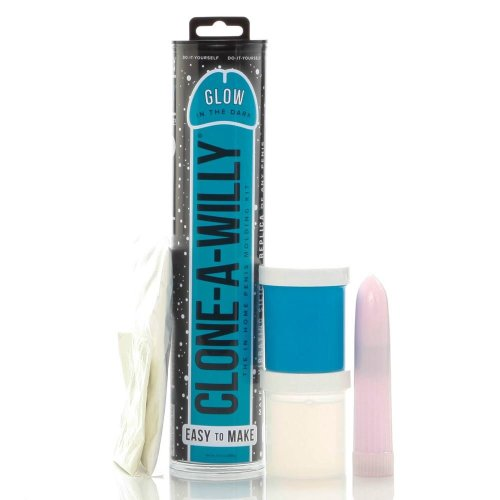 Clone A Willy Glow In The Dark Dildo Kit Blue OS