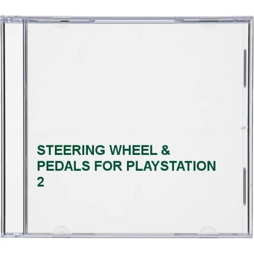 STEERING WHEEL & PEDALS FOR PLAYSTATION 2