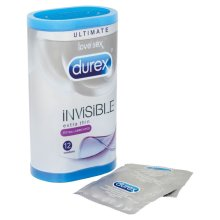 Durex Extra Invisible Lubricated Condoms - Pack of 12
