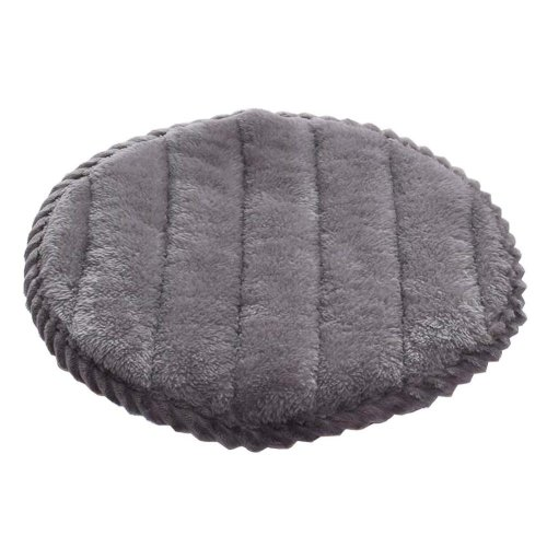[W] Soft Flannel Round Stool Cover Bar Stool Seat Pad