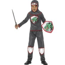 Smiffy's 21922m Deluxe Knight Costume (medium) -  boys knight costume medieval fancy dress book day deluxe kids week tudor