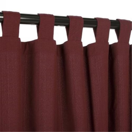 Outdoor Curtains CUR108DW 54 in. x 108 in. WeatherSmart Outdoor Curtain with Tabs - Dark Wine