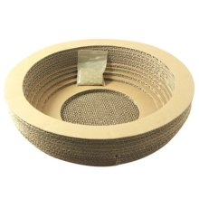 Natural Paper&Wood Cat Scratching Pad New Style Scratcher with Catnip Circle