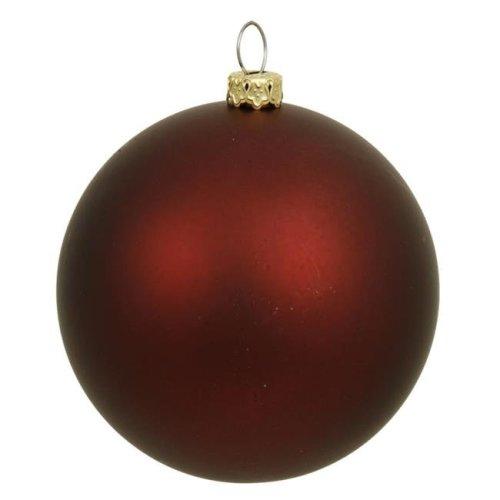 Vickerman 31750040 Matte Burgundy UV Resistant Commercial Drilled Shatterproof Christmas Ball Ornament - 2.75 in. on OnBuy
