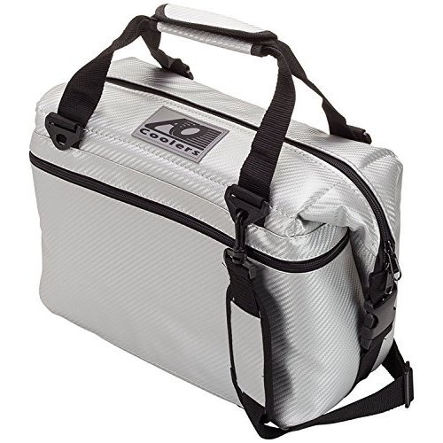 Ao Coolers Carbon Soft Cooler With High Density Insulation Silver 24 Can