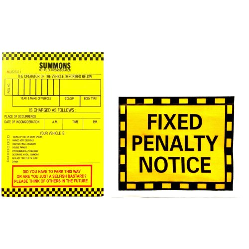 4pc Prank Parking Tickets Set | Joke Parking Tickets