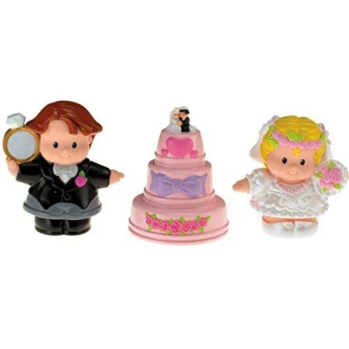Fisher-Price Little People Wedding Figures (Bride, Groom, and Wedding Cake)