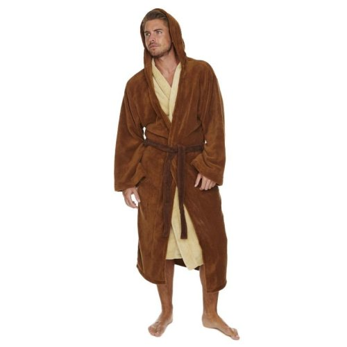 Star Wars Jedi Outfit Brown/Cream Adult Fleece Dressing Gown
