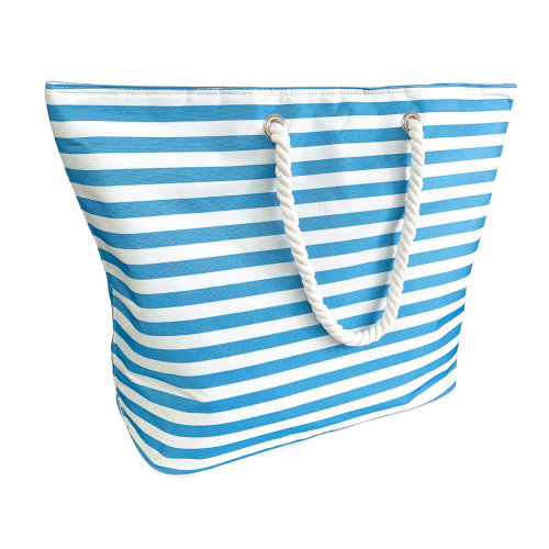Country Club Beach Cooler Tote Bag, Stripe