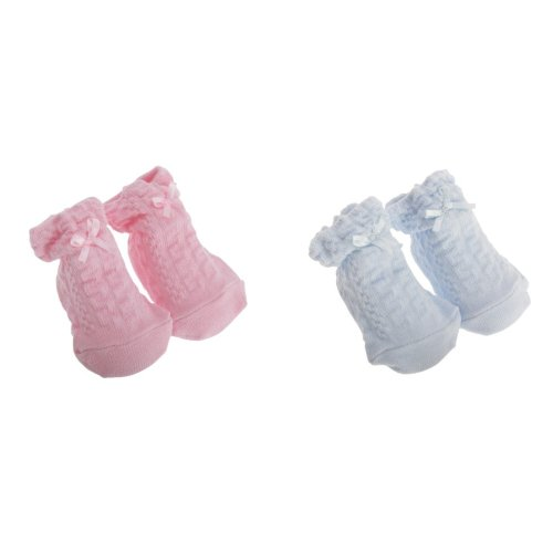 Nursery Time Baby Boys/Girls Bow Design Socks