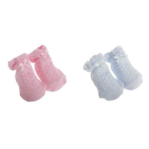 Nursery Time Baby Boys/Girls Bow Design Socks