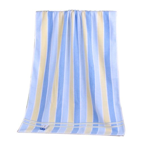 "Luxury Bath Towel Cotton 55"" x 27.5"" Large Bath Sheet Absorbent Blue Stripes"