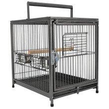 Pawhut Bird Travel Cage, 46Lx36Wx56H cm, Metal-Black