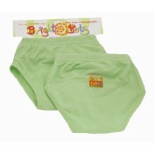 Bright Bots 2pk Washable Training Pants P/Green