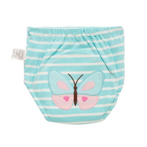 2 Pieces Of Butterfly Pattern Leak-proof Diapers Baby Training Pants