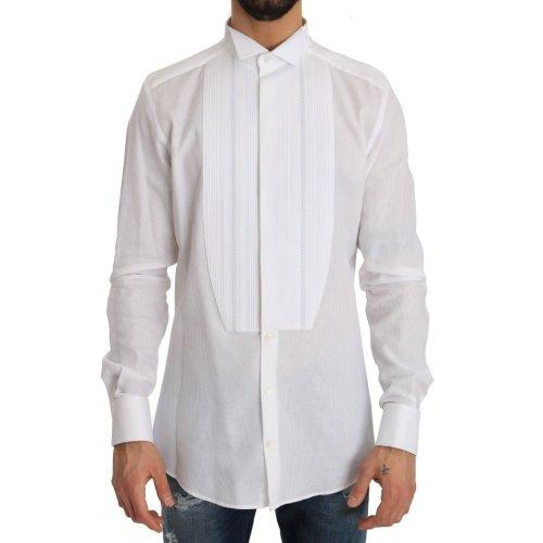 Dolce & Gabbana White Cotton Slim Fit Shirt