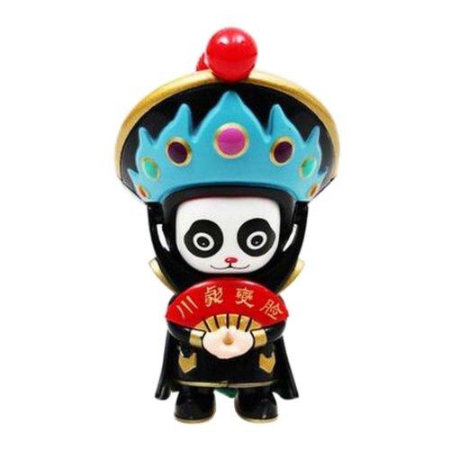Chinese Opera Face Changing Doll Sichuan Opera Figure Toy, Blue Hat, Panda