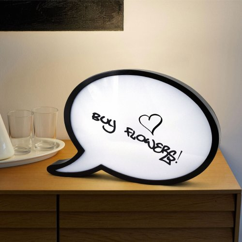 Large Speech Bubble LED Light Box | Dry Wipe Decorative Memo Board