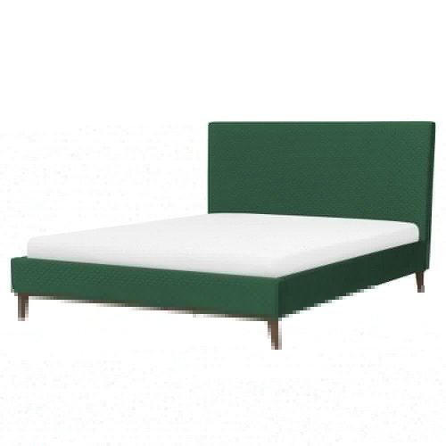 Velvet EU King Size Bed Green BAYONNE