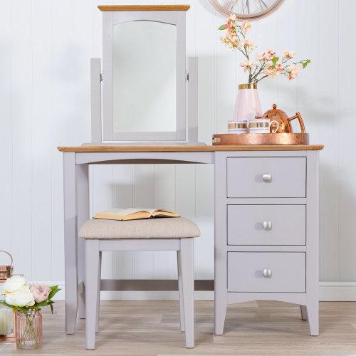 Malvern Shaker Grey Painted Oak Dressing Table