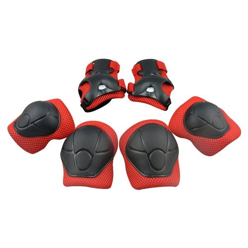 GIM Child's Pad Set with Knee Elbow and Wrist (Red)