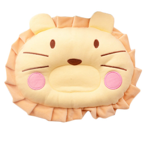 Adorable Soft Anti-roll Pillow Prevent Flat Head-Lovely Lion,Yellow