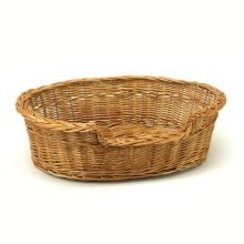Large Willow Dog Cat Pet Wicker Basket
