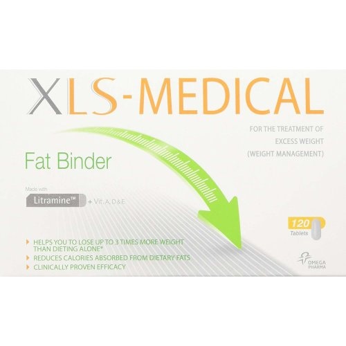 XLS Medical Fat Binder Weight Loss Aid 20 Day Trial Pack 120 Tablets