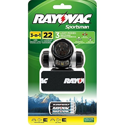 RAYOVAC Sportsman 22 Lumen 3 in 1 Headlight with 3 AAA Batteries SPKHL3AAA BA