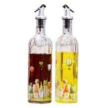2PCS Creative Oil Container Oil Jar Cruet Vinegar Bottle Glass Bottle, NO.12