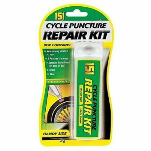 PUNCTURE REPAIR KIT OUTFIT SET BICYCLE CYCLE MOUNTAIN BIKE TYRE TUBE PATCHED