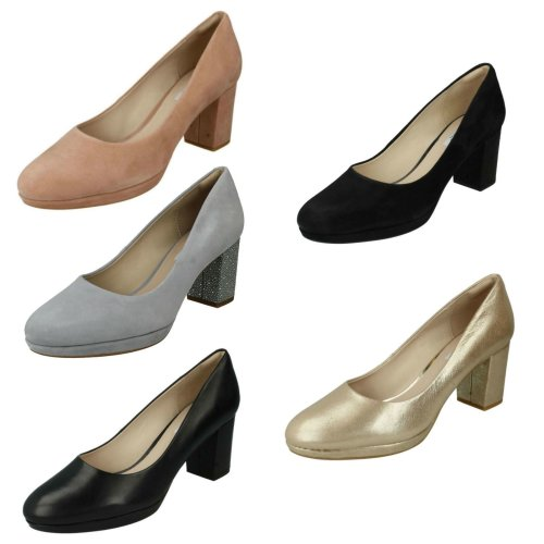 Ladies Clarks Smart Court Shoes Kelda Hope - D Fit
