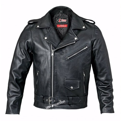 Real leather Brando motorcycle jacket