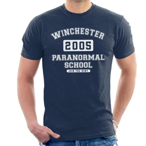 Winchester Paranormal School Varsity Text Men's T-Shirt