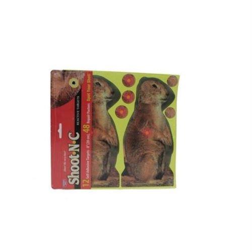 Birchwood Casey 34786 ShootNC Prairie Chuck 8'' Tgt-12 targets
