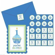 Sweet Little Cupcake Boy Postcard Invitations- 11.4cm x 15.8cm - /8