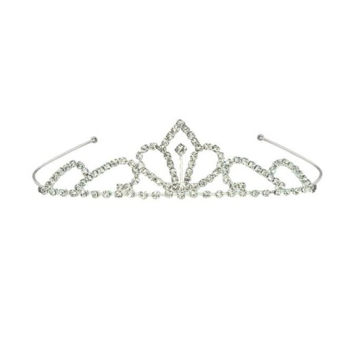 Beistle 60077 Royal Rhinestone Tiara, White - Pack of 6
